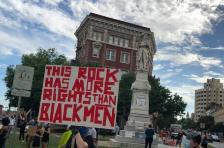 "A ""Replace the Hate"" protest occurred in Macon"